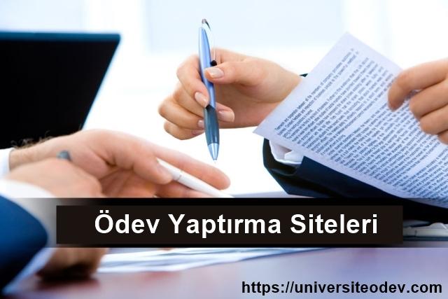 Universite Odev Sitesi Ucretli Universite Odevleriniz Yapilir